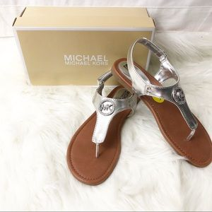Michael Kors Meesha Silver Sandals